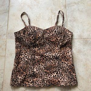 Express Hot Girl Leopard Leopard Top XL